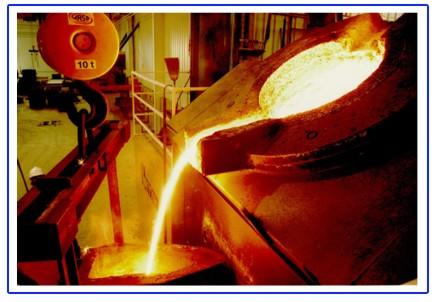 Minerales fusion del hierro for Hierro colado